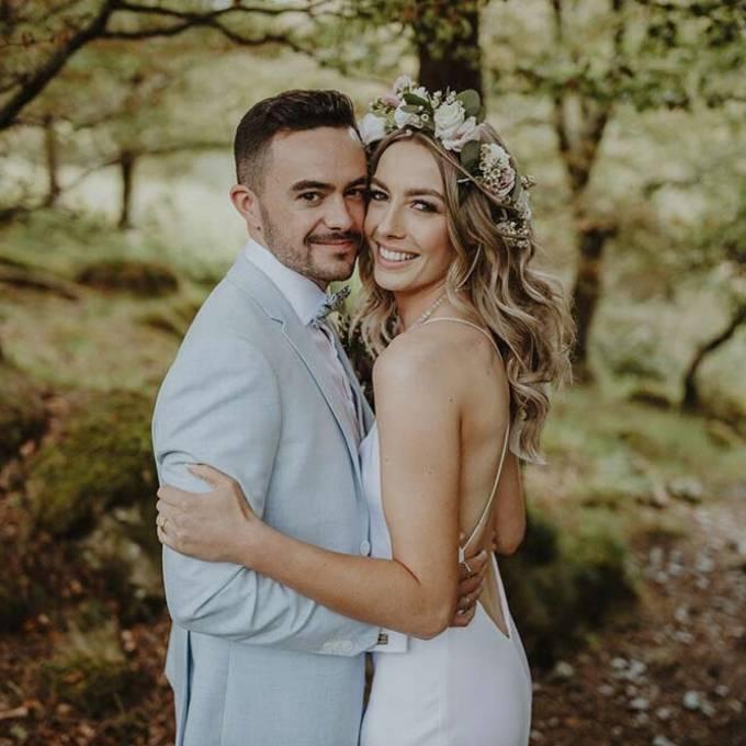 Romantic Wedding Couple with Coastal Ceremonies